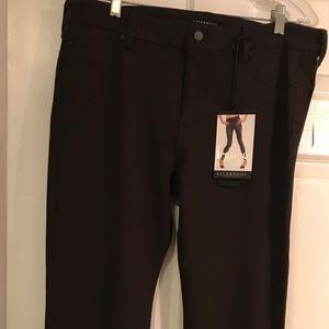 Liverpool Jeans Company Pants - Dark brown skinny pants, Liverpool, never worn